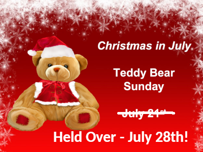 Christmas In July 2019 Images.Teddy Bear Sunday Christmas In July 2019
